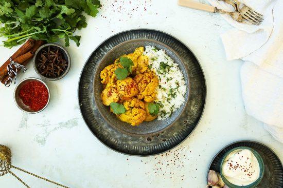 Coconut Chicken Cauliflower Curry